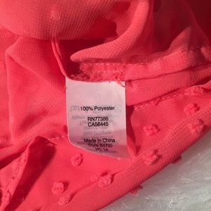J. Crew Tops - J. Crew pink dot chiffon blouse size 0 NWT